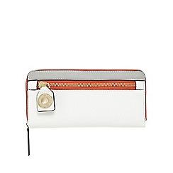 Star by Julien Macdonald - White large zip around purse