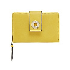 Star by Julien Macdonald - Yellow eyelet tab purse
