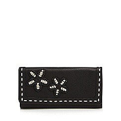 The Collection - Black leather whipstitch large purse