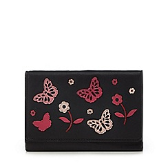 The Collection - Black leather butterfly applique medium purse