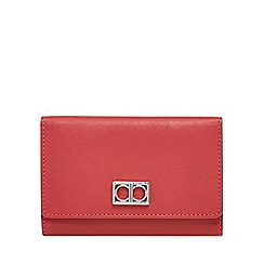 The Collection - Red leather medium flap over purse