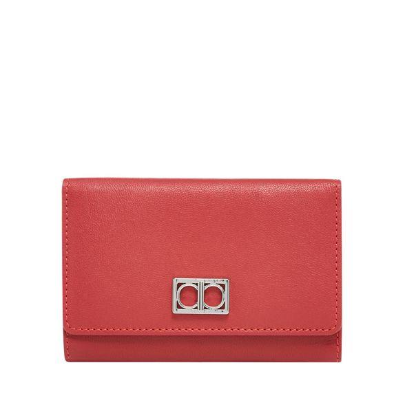 flap medium Red over The Collection purse leather xgSfIqSzwB