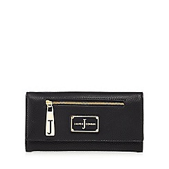 J by Jasper Conran - Black zip front flap over large purse