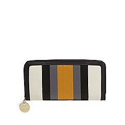 J by Jasper Conran - White webbed stripe large purse