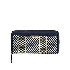J by Jasper Conran - Navy textured stripe large purse