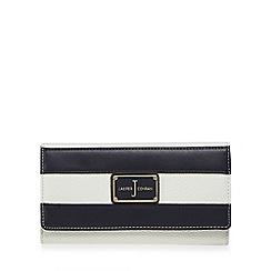 J by Jasper Conran - Navy striped large purse