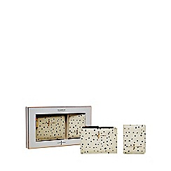 J by Jasper Conran - White spotted purse and cardholder set in a gift box