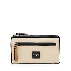 Principles - Black and cream block large purse
