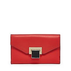 Principles - Red enamel lock medium purse