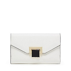 Principles - White enamel lock medium purse