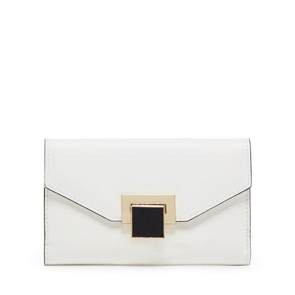 lock purse White Principles enamel medium qn6E4x1O
