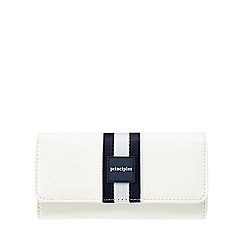 Principles - White sports striped purse