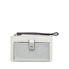 The Collection - White and silver wristlet purse