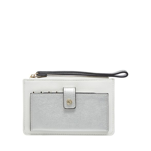 White wristlet The purse Collection and silver YpqWwx45UW