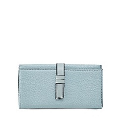 The Collection - Pale blue grained large purse