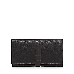 The Collection - Black grained large purse