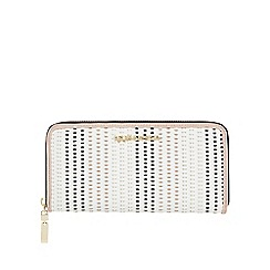 RJR.John Rocha - White weave large zip around purse