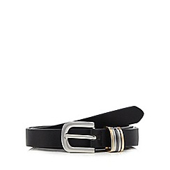 The Collection - Black metal detail skinny belt