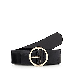 The Collection - Black patent belt