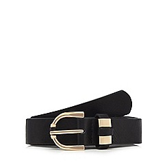 The Collection - Black gold buckle belt
