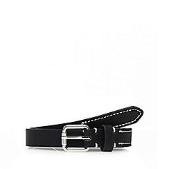 The Collection - Black skinny belt