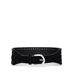 Mantaray - Black velvet wide belt