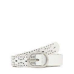 Mantaray - White laser cut belt
