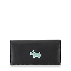Radley - Black large leather 'heritage dog' flap over purse