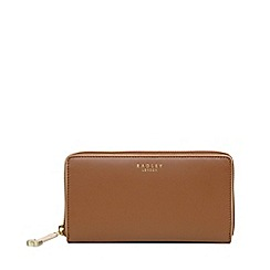 Radley - Tan arlington street large zip around matinee purse