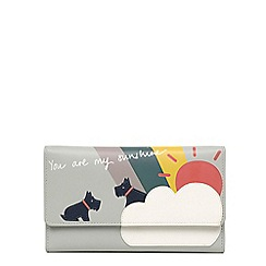 Radley - Blue medium leather 'heritage dog' outline purse