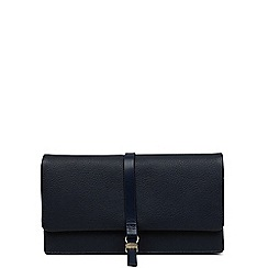 Radley - Navy medium leather 'heritage dog' outline purse