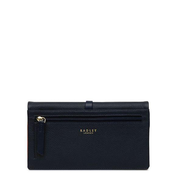 'heritage leather Radley medium purse outline dog' Navy 4AwtqRxwE