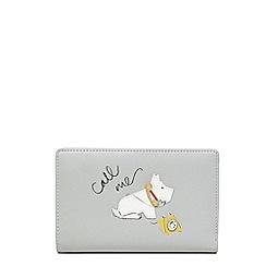 Radley - Grey leather 'Call Me' medium zip-top purse