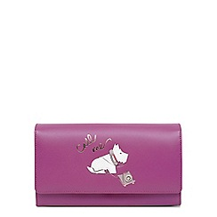 Radley - Pink leather 'Call Me' large flapover matinee purse