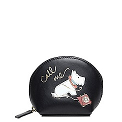 Radley - Black leather 'Call Me' zip around small coin purse