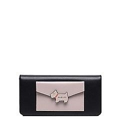 Radley - Large black leather 'London Lane' flapover matinee purse