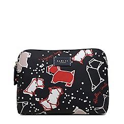 Radley - Black speckle dog medium zip-top pouch