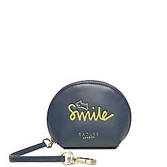 Radley - Navy leather 'Smile Love and Happy' handbag