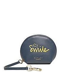 Radley - Navy leather 'Smile Love and Happy' handbag