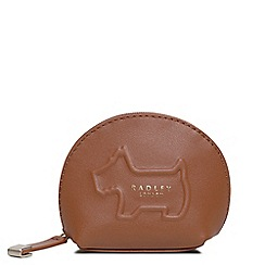 Radley - Small tan leather 'Shadow' coin purse
