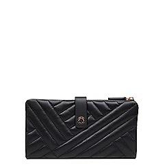 Radley - Large black leather 'Larkswood' folded matinee purse
