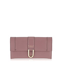 Radley - Large pink leather 'Primrose Hill' flapover matinee purse
