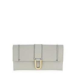 Radley - Large grey leather 'Primrose Hill' flapover matinee purse