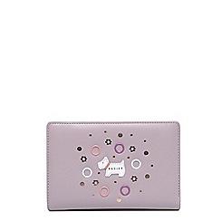 Radley Pink Leather Eyelets Medium Zip Top Purse