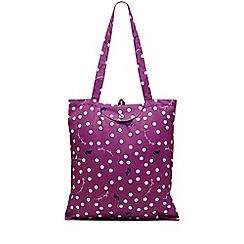 Radley - Dark pink 'Vintage Dog Dot' foldaway tote bag