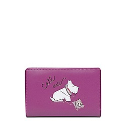 Radley - Pink leather 'Call Me' medium coin purse