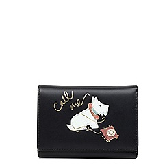 Radley - Black leather 'Call Me' small folded purse