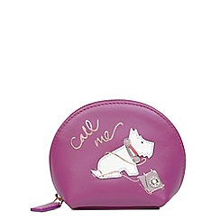 Radley - Pink leather 'Call Me' small coin purse