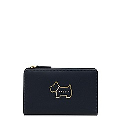 Radley - Navy leather 'Heritage Dog Outline' medium purse