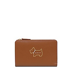 Radley - Tan leather 'Heritage Dog Outline' medium purse